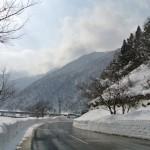 スノーサーチ 雪の道路